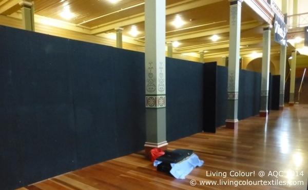 blank wall at AQC